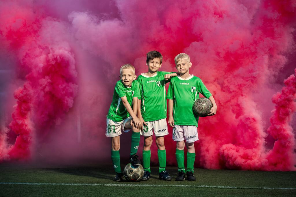 Jaunoji futbolininkų pamaina.